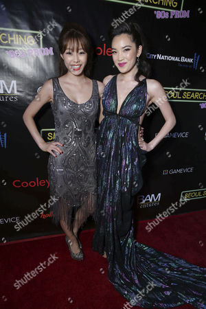 "Sue Son and Jessika Van seen at Wonder Vision Presents ""Seoul Searching"" Premiere, in Los Angeles, CA"
