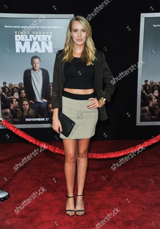 """Stock Picture of Cassidy Gard arrives at the world premiere of """"Delivery Man"""" at The El Capitan Theatre on in Los Angeles"""