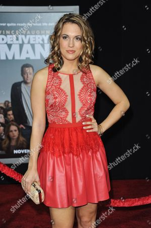 "Leslie Ann Glossner arrives at the world premiere of ""Delivery Man"" at The El Capitan Theatre on in Los Angeles"