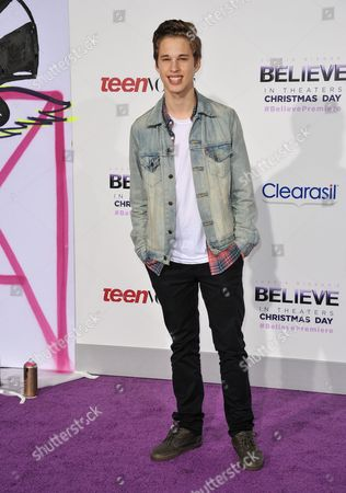 "Ryan Beatty arrives at the World Premiere of ""Justin Bieber's Believe"" at Regal Cinemas L.A. Live on in Los Angeles"