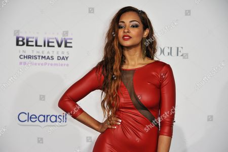 """Jessica Jarrell arrives at the World Premiere of """"Justin Bieber's Believe"""" at Regal Cinemas L.A. Live on in Los Angeles"""
