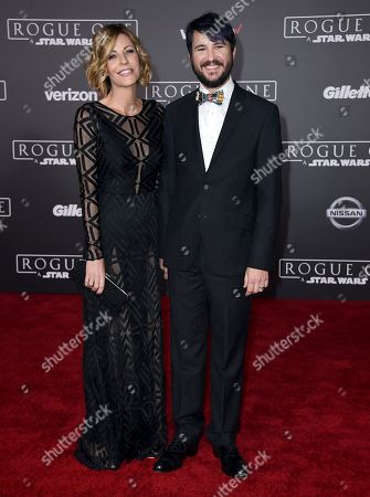 "Anne Wheaton, left, and Wil Wheaton arrive at the world premiere of ""Rogue One: A Star Wars Story"" at the Pantages Theatre, in Los Angeles"