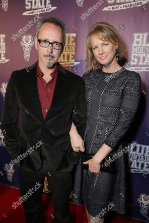 Director Lev L. Spiro and Melissa Rosenberg seen at World premiere of 'Blue Mountain State: The Rise of Thadland' at The Fonda Theatre, in Los Angeles, CA