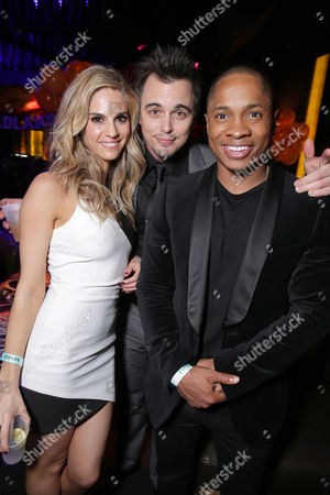 Kelly Kruger, Darin Brooks and Sam Jones III seen at World premiere of 'Blue Mountain State: The Rise of Thadland' after party at The Argyle Hollywood, in Los Angeles, CA