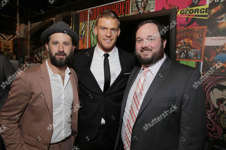 Writer/Producer/Actor Chris Romano, Writer/Producer/Actor Alan Ritchson and Writer/Producer Eric Falconer seen at World premiere of 'Blue Mountain State: The Rise of Thadland' at The Fonda Theatre, in Los Angeles, CA