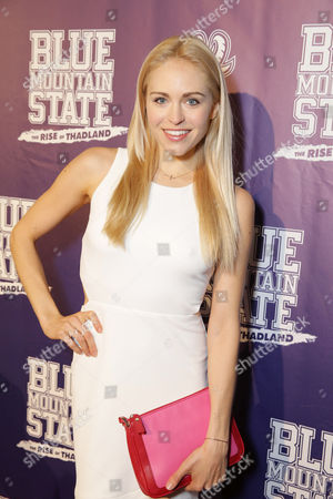 Lindsey Sporrer seen at World premiere of 'Blue Mountain State: The Rise of Thadland' at The Fonda Theatre, in Los Angeles, CA