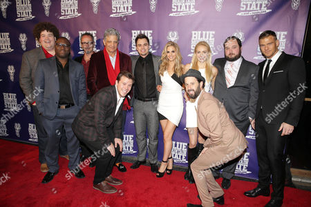 Rob Ramsay, Omari Newton, Director Lev L. Spiro, Ed Marinaro, Jimmy Tatro, Darin Brooks, Kelly Kruger, Writer/Producer/Actor Chris Romano, Lindsey Sporrer, Writer/Producer Eric Falconer and Writer/Producer/Actor Alan Ritchson seen at World premiere of 'Blue Mountain State: The Rise of Thadland' at The Fonda Theatre, in Los Angeles, CA
