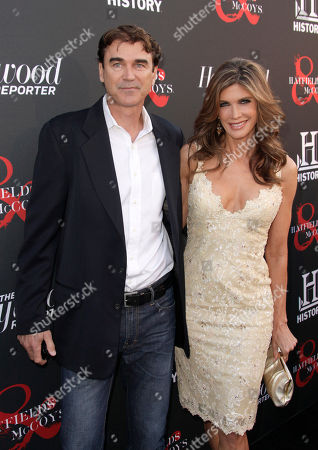 Rob Moran and Julie Moran arrive at the world premiere of Hatfields & McCoys on in Los Angeles