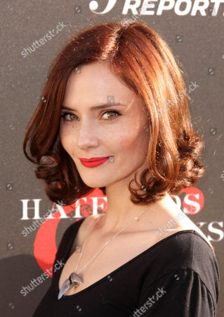 Actress Rebecca Calder arrives at the world premiere of Hatfields & McCoys on in Los Angeles
