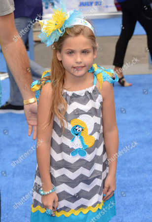 """Dannielynn Marshall arrives at the world premiere of """"The Smurfs 2"""" at the Regency Village Theatre on in Los Angeles"""