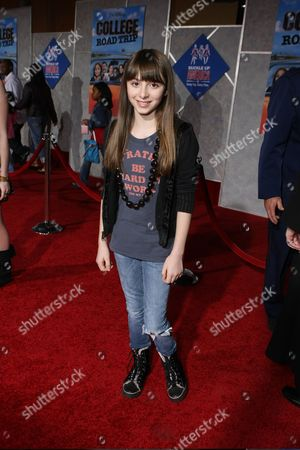 """Stock Image of MARCH 3: Jasmine Jessica Anthony at the World Premiere of Walt Disney Pictures' """"College Road Trip"""" on at the El Capitan Theatre in Hollywood, CA"""