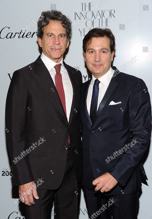 "Eric Eisner, left and Anthony Cenname attend WSJ. Magazine's ""Innovator of the Year Awards"" at the Museum of Modern Art on in New York"