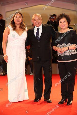 Stock Image of Angeles Woo, John Woo and Annie Woo