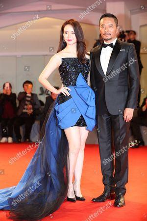 Stock Photo of Qi Wei and Zhang Hanyu