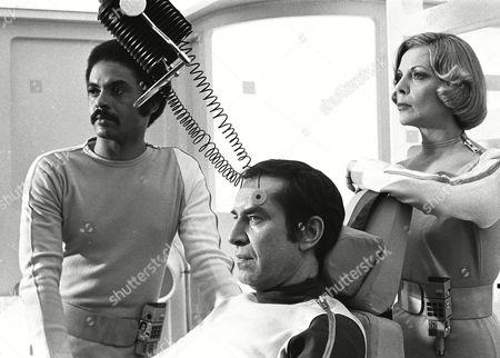 Anton Phillips, Martin Landau and Barbara Bain