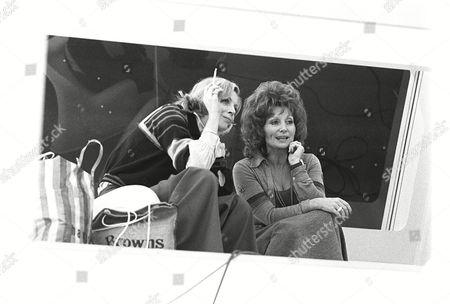 Behind the scenes, Barbara Bain and Sylvia Anderson