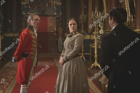 (SR2: Ep6) - Adrian Schiller as Penge, Daniela Holtz as Baroness Lehzen and Martin Compston as Dr Traill.