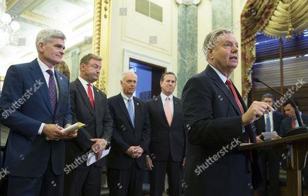 Bill Cassidy, Dean Heller, Lindsey Graham, Ron Johnson and Rick Santorum