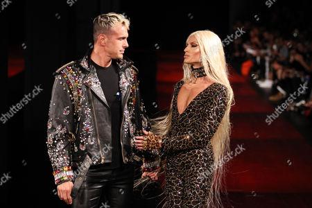 David Blond and Phillipe Blond on the catwalk