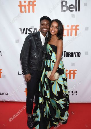 "Lamar Johnson, Rachel Hilson. Actors Lamar Johnson, left, and Rachel Hilson attend the premiere for ""Kings"" on day 7 of the Toronto International Film Festival, at Roy Thomson Hall, in Toronto"