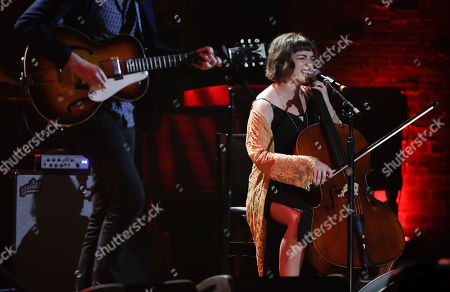 Neyla Pekarek of The Lumineers performs during the Americana Honors and Awards show, in Nashville, Tenn