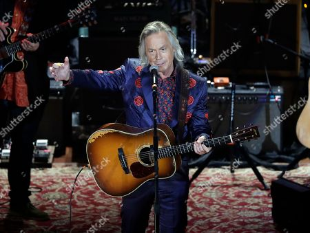 """Show host Jim Lauderdale introduces the finale """"Tulsa Time"""" during the Americana Honors and Awards show, in Nashville, Tenn"""