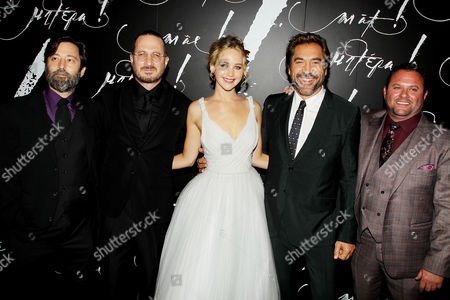 Ari Handel, Jennifer Lawrence, Darren Aronofsky, Javier Bardem and Scott Franklin