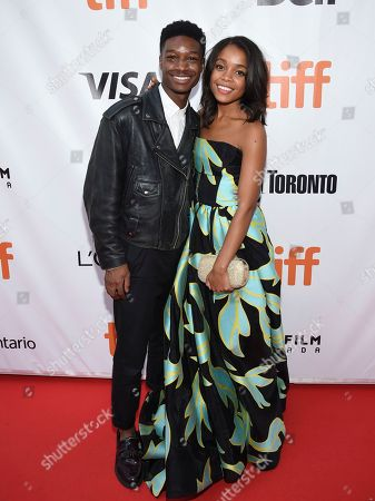 "Lamar Johnson, Rachel Hilson. Actors Lamar Johnson, left, and Rachel Hilson attend the premiere for ""Kings"" on day seven of the Toronto International Film Festival, at Roy Thomson Hall, in Toronto"