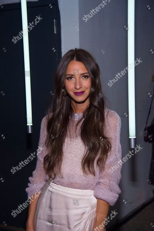 Blogger Arielle Charnas attends the Michael Kors ACCESS Smartwatch launch event at ArtBeam, in New York
