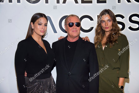 Ashley Graham, Michael Kors, Andreea Diaconu. Ashley Graham, left, Michael Kors, middle, and Andreea Diaconu attend the Michael Kors ACCESS Smartwatch launch event at ArtBeam, in New York
