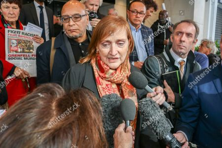 Emma Dent Coad Labour MP for Kensington and Chelsea speaks to the media