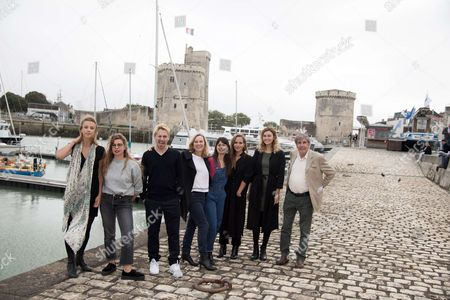 Director, Marie Gillian and Laurette Tessier, Joffrey Verbruggen, Margot Luciarte, Pauline Cassan, Lea Arnezeder and Bernard Menez