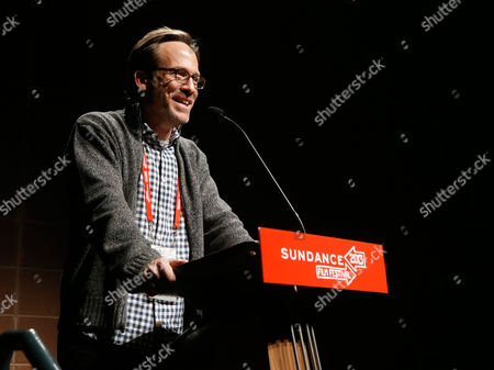 """Producer Michael Costigan speaks onstage at Fox Searchlight's """"The Stoker"""" premiere during Sundance Film Festival on in Park City, Utah"""