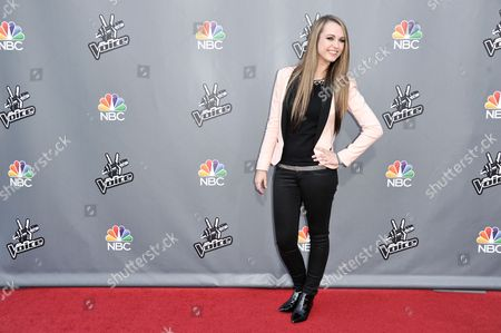 """Stock Image of Bria Kelly seen at """"The Voice"""" Top 12 Red Carpet Event on in Universal City, Calif"""