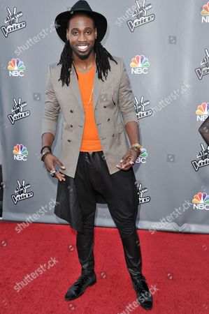 "Stock Picture of Delvin Choice seen at ""The Voice"" Top 12 Red Carpet Event on in Universal City, Calif"