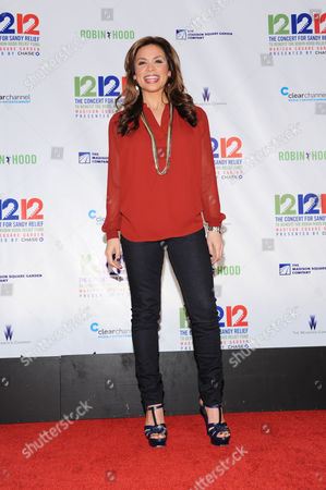 """Carolina Bermudez appears backstage at """"12-12-12"""" The Concert for Sandy Relief, on in New York"""