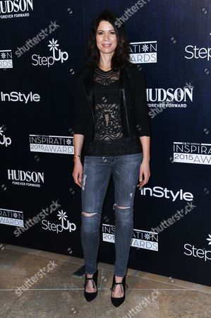 Lauren Stamile arrives at the 12th Annual Inspiration Awards held at the Beverly Hilton Hotel, in Beverly Hills, Calif