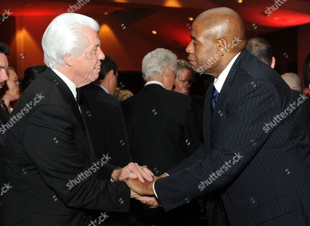 """Bill Austen and Forrest Whitaker are seen at the 12th Annual Starky Foundation """"So The World May Hear"""" Gala on in St. Paul, Minnesota"""