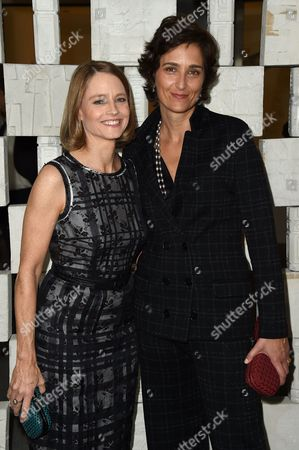 Jodie Foster, left, and Alexandra Hedison attend the 14th Annual Hammer Museum Gala in the Garden on in Los Angeles