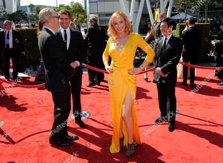 Kari Byron arrives at the 2012 Creative Arts Emmys at the Nokia Theatre, in Los Angeles