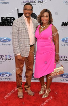 Judge Mathis, left, and Linda Reese arrive at the BET Awards at the Nokia Theatre, in Los Angeles