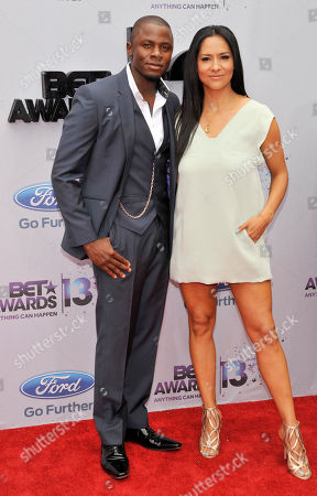 Stock Photo of Derek Luke, left, and Sophia Adella Luke arrive at the BET Awards at the Nokia Theatre, in Los Angeles