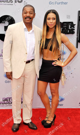 Stock Image of Robert Townsend, left, and Skye Townsend arrive at the BET Awards at the Nokia Theatre, in Los Angeles