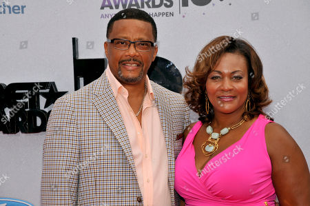 Judge Mathis and Linda Reese arrive at the BET Awards at the Nokia Theatre, in Los Angeles