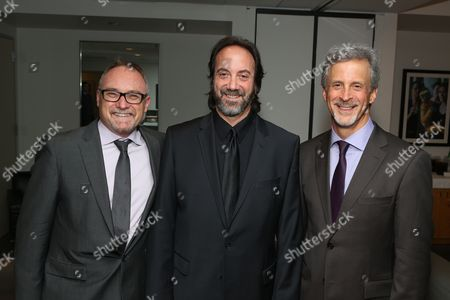 From left, Kevin Tent, A.C.E, Stephen Rivkin, A.C.E. and William Goldenberg, A.C.E. pose during the 2013 Hollywood Post Alliance Awards Ceremony held at the Skirball Cultural Center on in Los Angeles, Calif