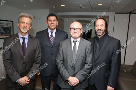 From left, William Goldenberg, A.C.E., Louis Hernandez Jr., President and CEO Avid, Kevin Tent, A.C.E. and Stephen Rivkin, A.C.E. pose during the 2013 Hollywood Post Alliance Awards Ceremony held at the Skirball Cultural Center on in Los Angeles, Calif