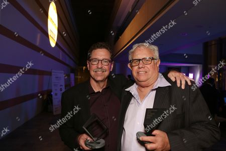 From left, Gregg Rudloff and John Reitz pose during the 2013 Hollywood Post Alliance Awards Ceremony held at the Skirball Cultural Center on in Los Angeles, Calif