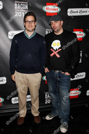 IMAGE DISTRIBUTED FOR HORMEL - MTV's Josh Horowitz and Chef Chris Santos attend the 2013 International Bacon Film Festival, sponsored by Hormel  Black Label Bacon on at Sunshine Cinema in New York