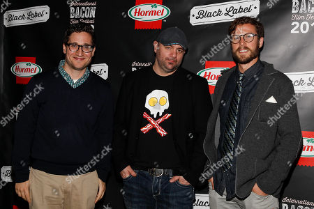 MTV's Josh Horowitz, Chef Chris Santos, and Hormel Product Manager Terrill Bacon attend the 2013 International Bacon Film Festival, sponsored by Hormel  Black Label Bacon on at Sunshine Cinema in New York