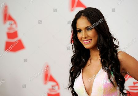 Thatiana Diaz arrives at the Latin Recording Academy Person of the Year tribute, in Las Vegas